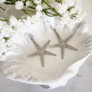 Cordelia Silver Starfish Earrings