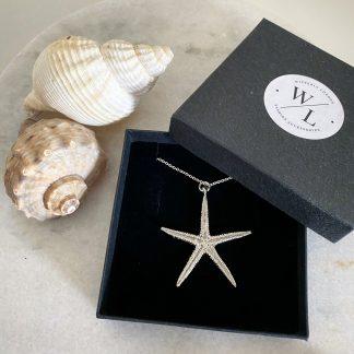 Cordelia Silver Starfish Necklace