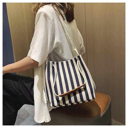 Malibu Stripe Canvas Bag