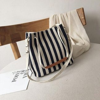 Malibu Stripe Canvas Bag