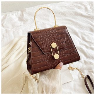 Eliza Brown Structured Top Handle Bag