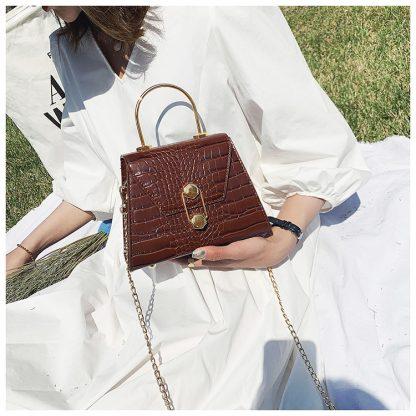 Eliza Brown Structured Top Handle Bag
