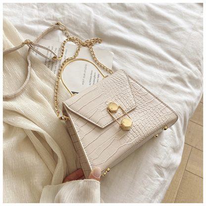 Eliza White Structured Top Handle Bag