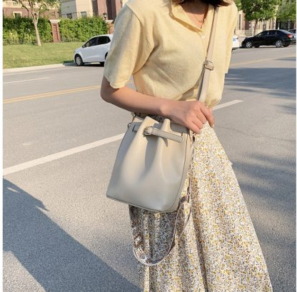 Farah Beige Balloon Bag