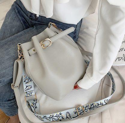 Farah Grey Balloon Bag