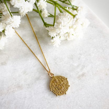 Augusta Beaded Coin Necklace