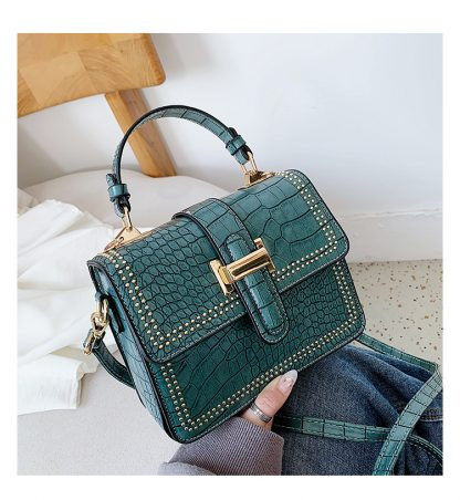 Harlow Structured Cross Body Green