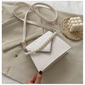 Perla White Handbag