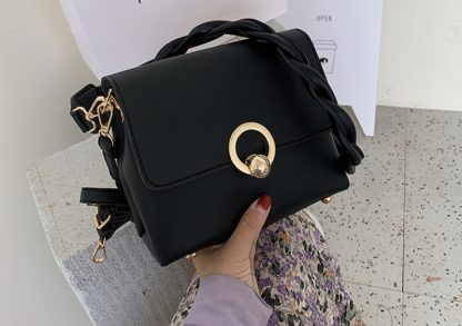 Sienna Black Shoulder Bag
