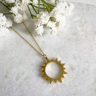 Marisol Gold Sunburst Necklace
