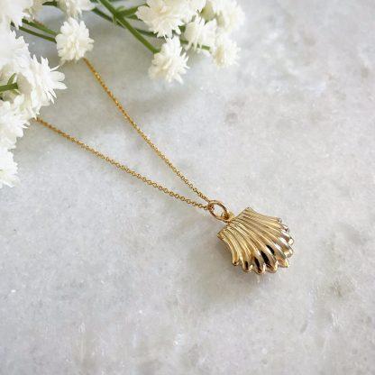 Carlotta Clam Shell Necklace