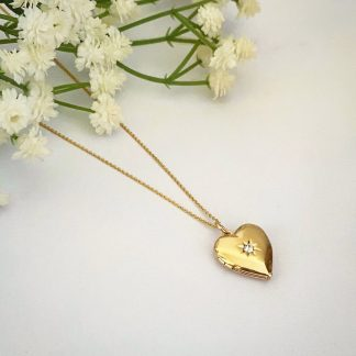 Valentina Cubic Heart Locket