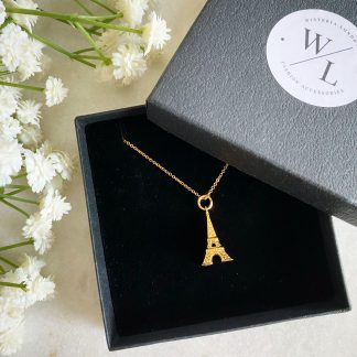 Eiffel Tower Necklace Gold