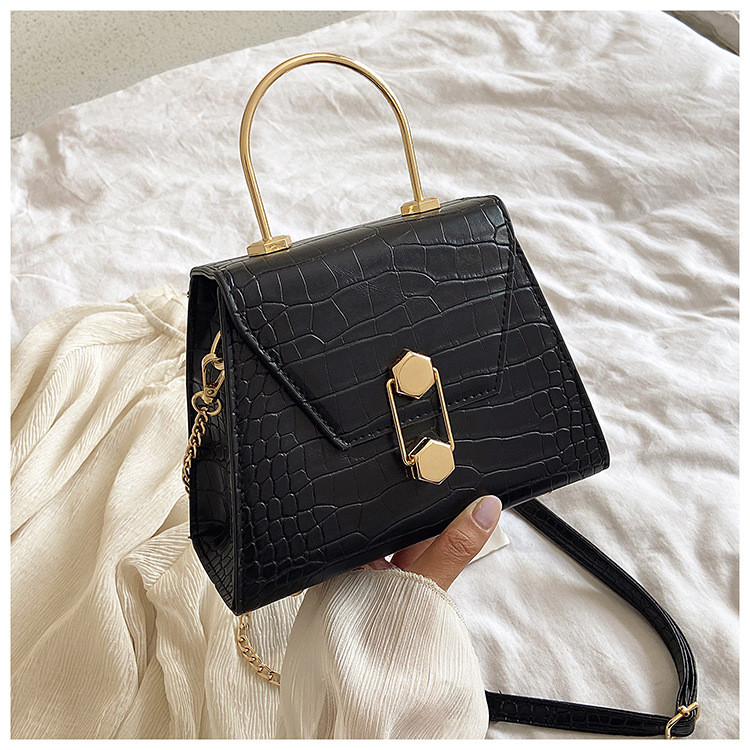 New In: Handbags - Eliza Black Structured Top Handle Bag