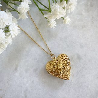 Florence Filigree Heart Locket