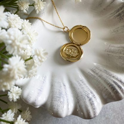 Maria Gold Flower Necklace