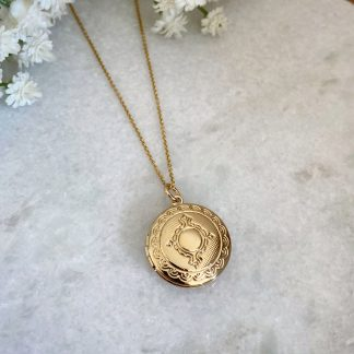 Martha Gold Filigree Locket