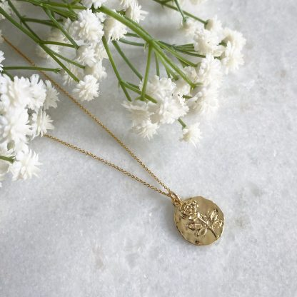 Rosalie Gold Coin Necklace