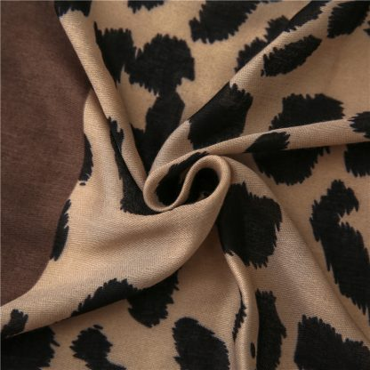 Amari Leopard Print Scarf