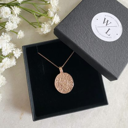 Anthea Rose Gold Coin Necklace