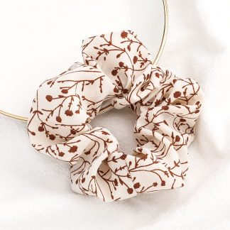 Bramble Cream Floral Scrunchie