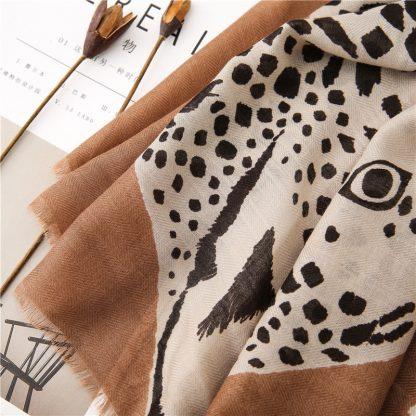 Tala Brown Safari Print Scarf