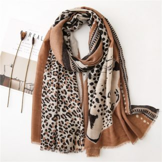 Tala Brown Safari Print Scarf