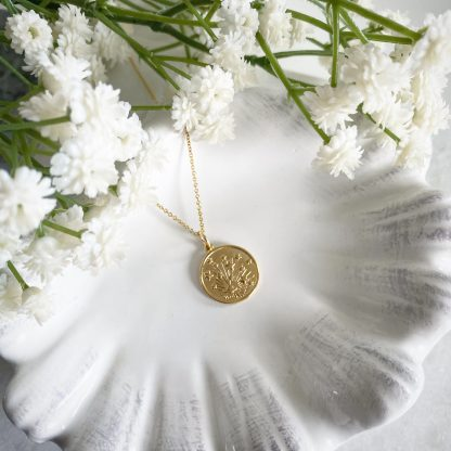 Cosmos Gold Coin Necklace