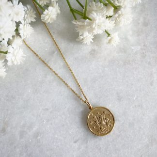 Cosmos Gold Coin Necklace