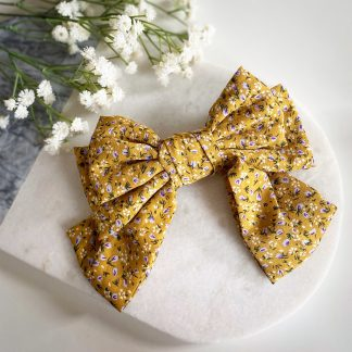 Fifi Yellow Floral Hair Bow
