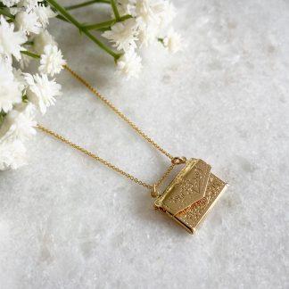 Floria Gold Envelope Necklace