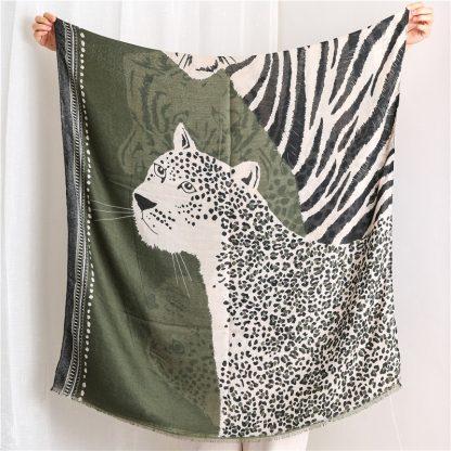 Tala Green Safari Print Scarf
