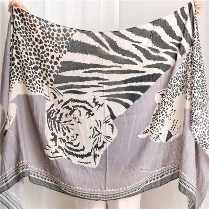 Tala Grey Safari Print Scarf