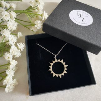 Marisol Silver Sunburst Necklace