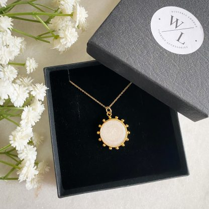 Savannah Sun Beaded Coin Necklace