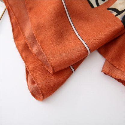Zena Animal Print Scarf Orange