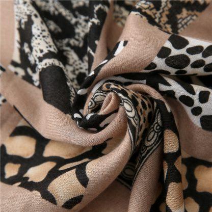 Zena Animal Print Scarf Brown