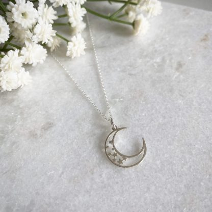 Cressida Sterling Silver Moon Necklace
