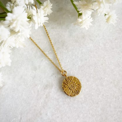 Cyrus Smiling Gold Sun Necklace