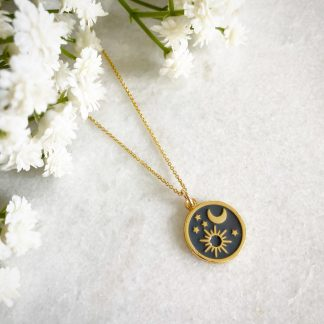 Elara Sun Moon and Stars Necklace