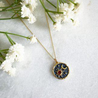 Elara Sun Moon and Star Necklace