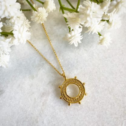 Gold Buoy 'Life Saver' Necklace