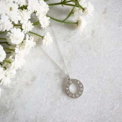 Luna Sterling Silver Moon Phases Necklace