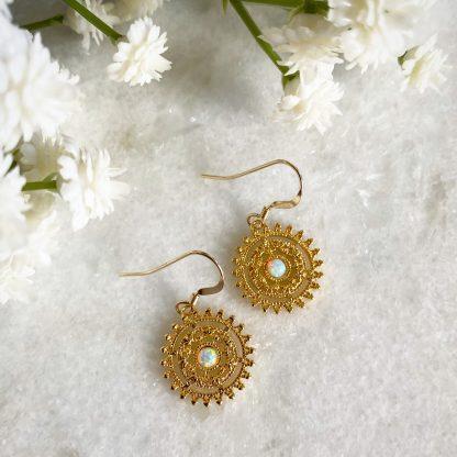 Gisele Opal Flower Earrings