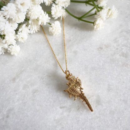 Diana Gold Conch Shell Necklace