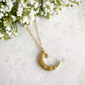 Mona Gold Moon Necklace