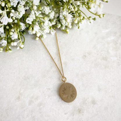 Astra Starburst Oval Necklace