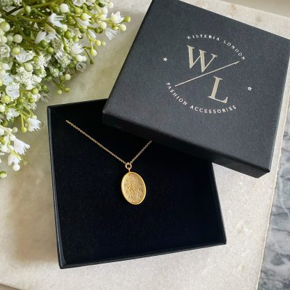 Juniper Gold Wildflower Necklace