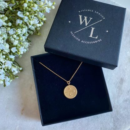 Gold Arrow Coin Necklace