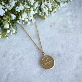 Gold Arrow Coin Necklace